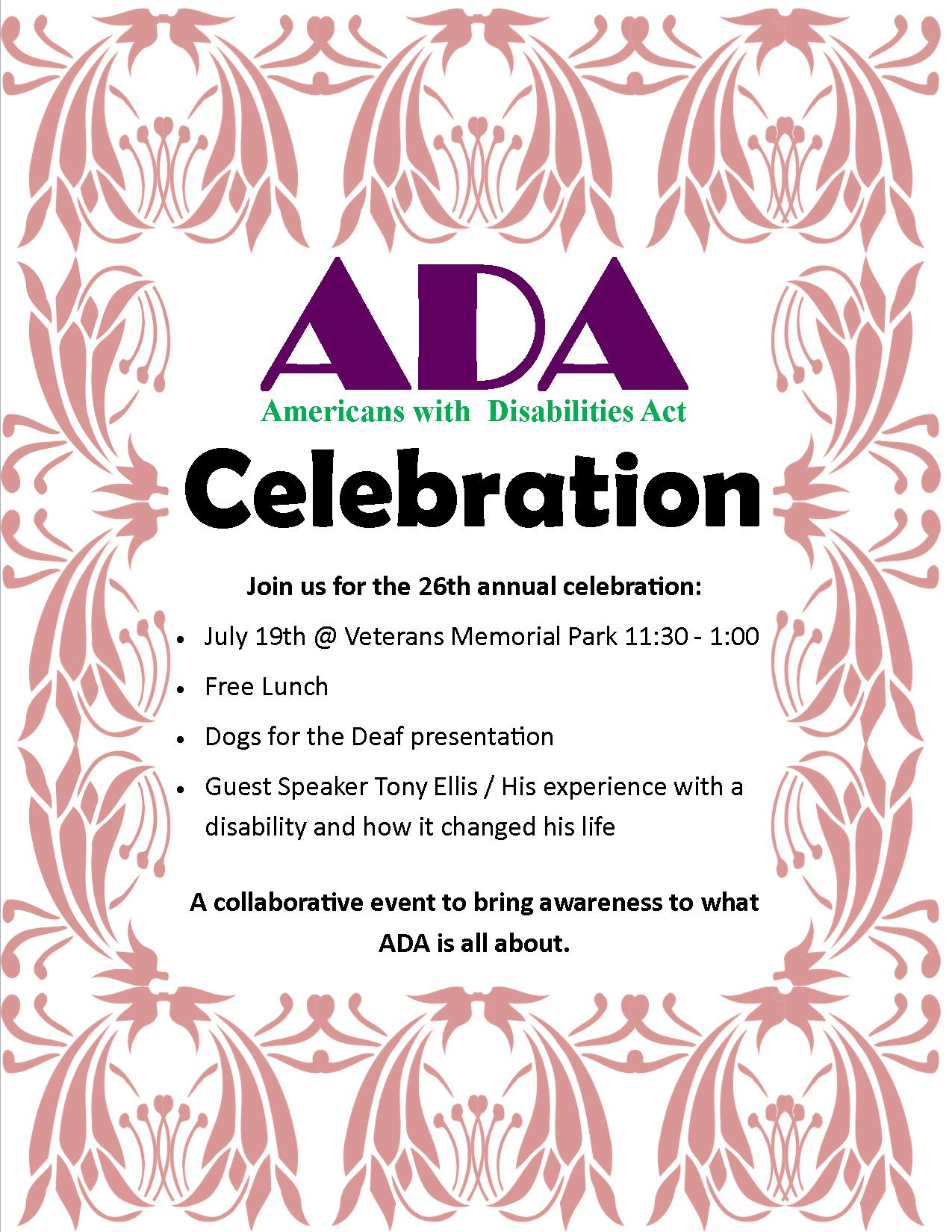 ADA Celebration 2016 Flyer